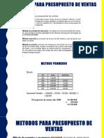 Metodo Presupuesto Ventas