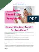 Comment Éradiquer l'Acné Et Ses Symptômes.pptx