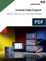 TU Data Export Sample Access