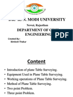 Plane Table Surveying -ppt