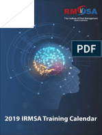 Training Calendar 2019