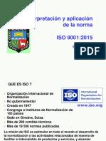 Iso 9001 2015 Interpretacion y Aplicacion Ep (Presentacion)
