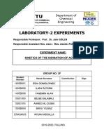 Lab2  kinetik of idonization