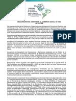 Declaración de Lima para luchar contra el tráfico de fauna silvestre en países americanos