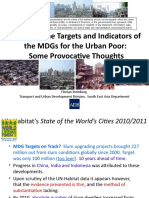 Refining MDG targets and indicators for the urban poor