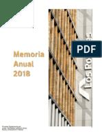 Memoria Anual Los Portales 2018
