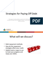 2018 - Strategies for Paying Off Debt