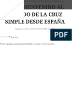 4444 – BIENVENIDO AL MÉTODO DE LA CRUZ SIMPLE DESDE ESPAÑA – eXtemporánea