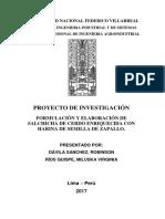 Formulación y Elaboración de Salchicha de Cerdo Enriquecida Con Harina de Semilla de Zapallo. 1