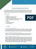 Convocatoria Premios Nacionales de Psicología 2019_Vs_1