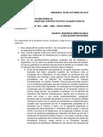 CARTA DE RENUNCIA ORGANIZACION POLITICA