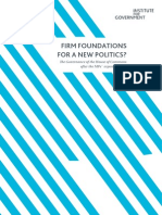 Firm foundations for a new politics