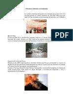 5 Desastres Naturales en Guatemala