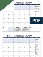 CE Project Calendar Plan
