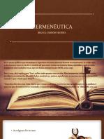 HERMENÊUTICA - apresentacao
