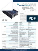 3. Samlex America 2000 W DC-AC Inverter Pure Sine Wave PST-2000-24 Hoja de Datos Sp