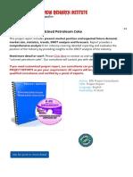 Project Report on Calcined Petroleum Coke