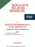 ANÁLISIS DE LA LEY N° 30057