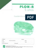 PLON-R (Cuadernillo anotación- 5 años)