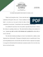 Statement from District Attorney Matthew Van Houten