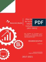 PlanEstrategico TecnologiaInformacionBN 2017 2021