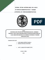 INCIDENCIA DEL PROCESO DE TRANSFERENCIAS DEL GOBIERNO REGIONAL EN EL CLIMA ORGANIZACIONAL DE INSTITUCIONES PÚBLICAS CASO