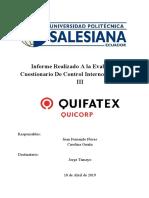 """Informe de Auditoría """"Quifatex"""""""