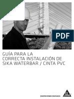 Guia de Instalacion Waterbar Cinta Sika o22