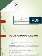 Clase No. 7 Derecho Civil 1 (Diapositivas de Las Persona Juridicas)
