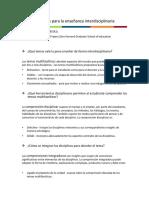 Cinco Preguntas Para La Ensen Anza Interdisciplinaria 6