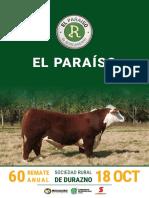 Catálogo El Paraíso
