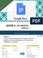 2. Documentos Google