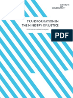 Transformation in the Ministry of Justice