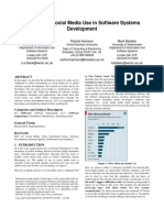 A Survey of Social Media Use in Software Systems d