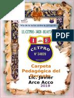 carpeta pedagogica para cetpro 2019