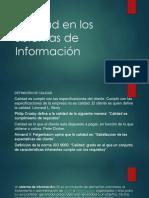 Calidad en Los Sistemas de Información