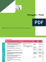Planificação português 7ºano