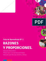 razones y proporciones - guía de aprendizaje matemático 1° medio