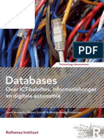 [Dutch] 'Databases – Over ICT-beloftes, informatiehonger en digitale autonomie