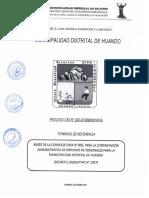 PROCESO CAS N°005-2019 MUNICIPALIDAD DISTRITAL DE HUANDO