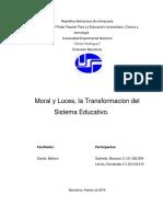 2da Unidad Trabajo de Moral y Luces La Transformacion Del Sistema Educ.