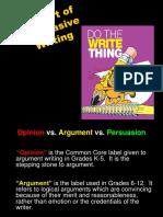 Argumentative Writing CTTO