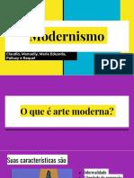 Apresentação modernismo