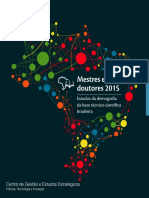 CGEE - Mestres Doutores 2015