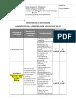 Cronograma Humanizacion en Los Servicio de Salud