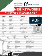 100 Chinese History Keywords A4