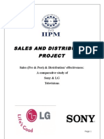 Sales & Distribution Project LG-SONY
