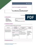 Guia de Foro de Debate y Argumentación - Constitucional Peruano (1)