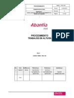 ABAN PRC 004 Rev 1 Proc. Trabajos en Altura