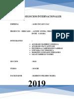 Plan de Negocios Internacionales - Aceite Extra Virgen de Sacha Inchi. 19-07-2019